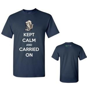 Women's Kept Calm & Carried On T-Shirt