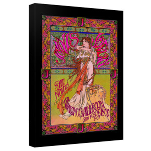 Janis Joplin/Janis Ballroom Poster-Canvas Wall Art With Back Board-White-[20 X 30]