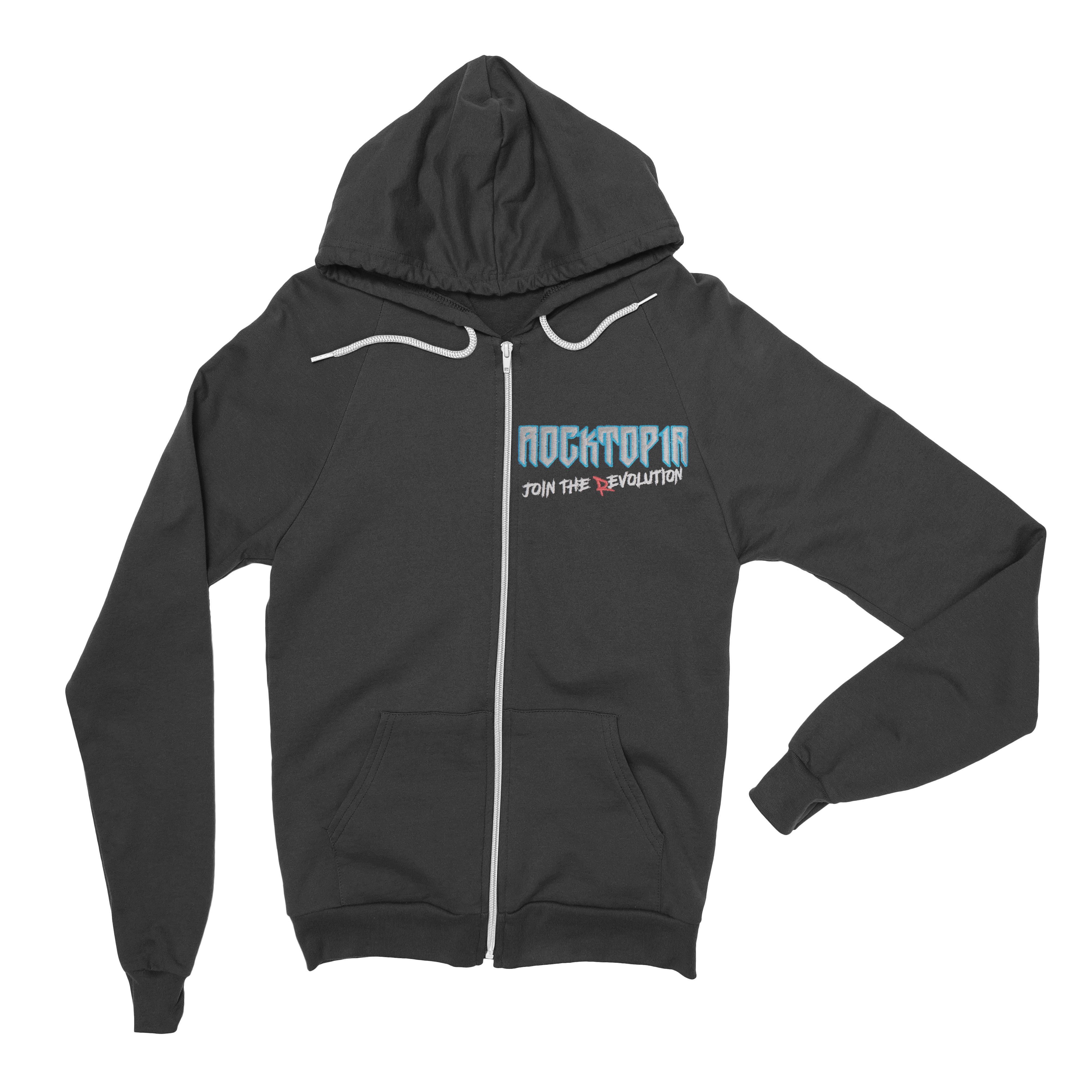 Rocktopia Embroidered Zip Hoodie