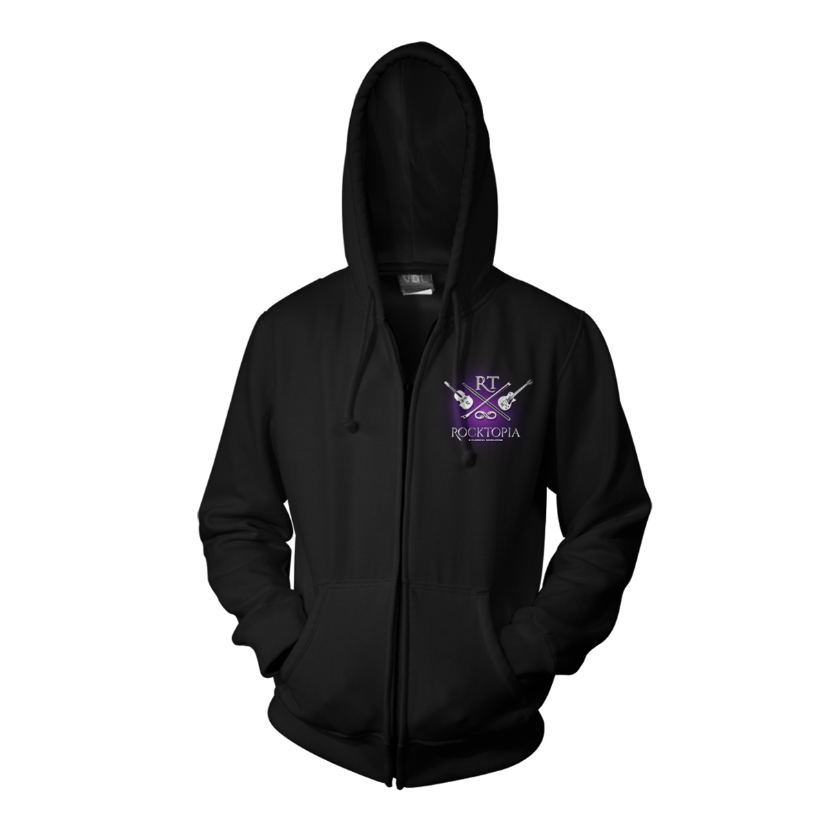 Rocktopia on Broadway Black Zip Hoodie