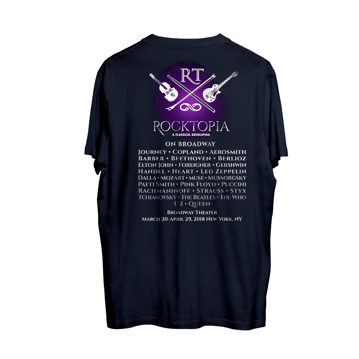 Rocktopia on Broadway Navy T-Shirt