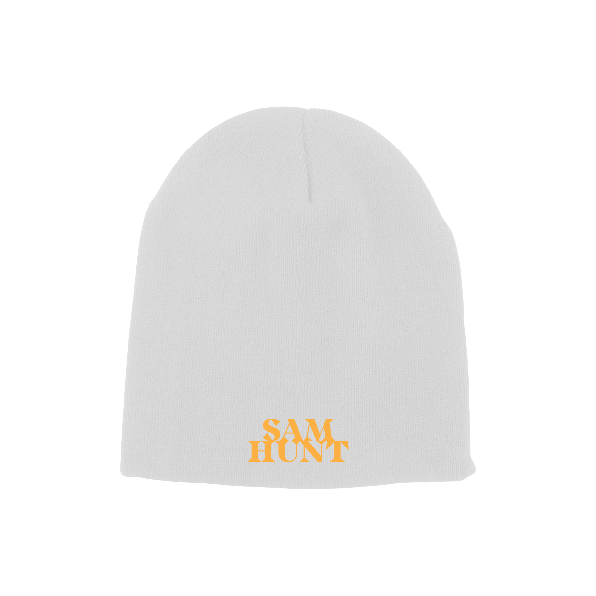 Sam Hunt Logo White Beanie