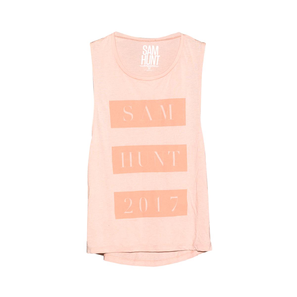Sam Hunt Pink On Pink Tank