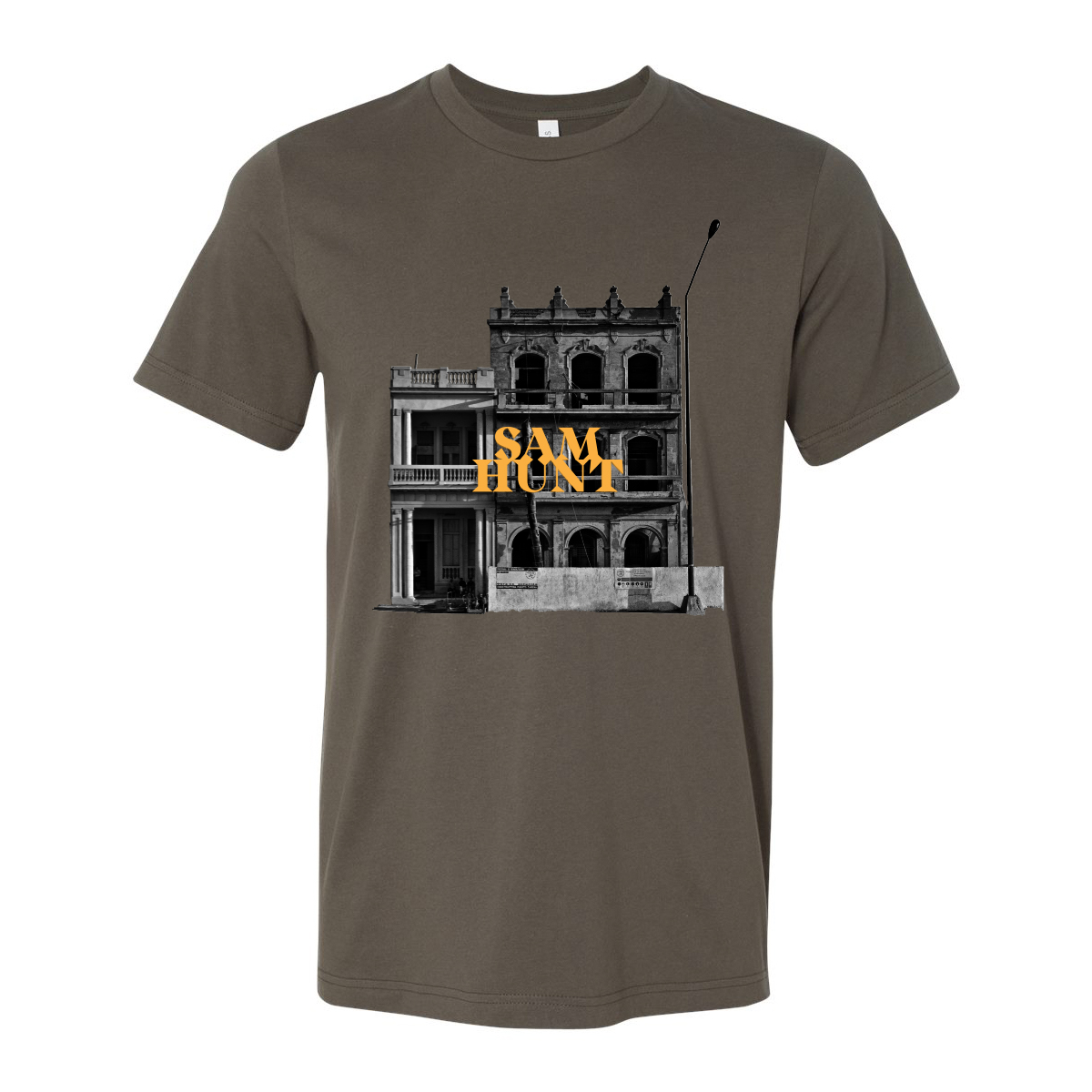 Downtown 2018 Tour Army Green T-shirt