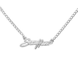 SH Script Necklace