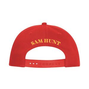 Sam Hunt Red Embroidered Flat Brim Hat
