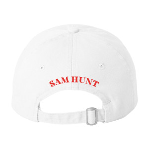 Sam Hunt White Embroidered Dad Hat