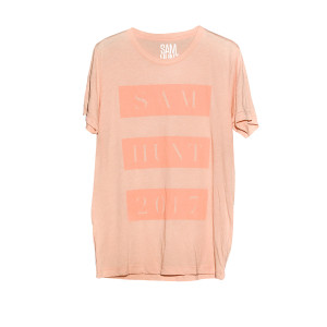 Sam Hunt Pink On Pink Tee