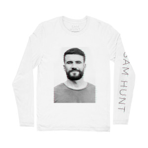 White Glitch Long Sleeve