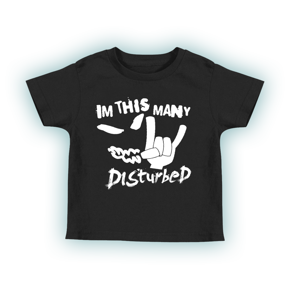 I'm This Many Disturbed Black Toddler T-Shirt