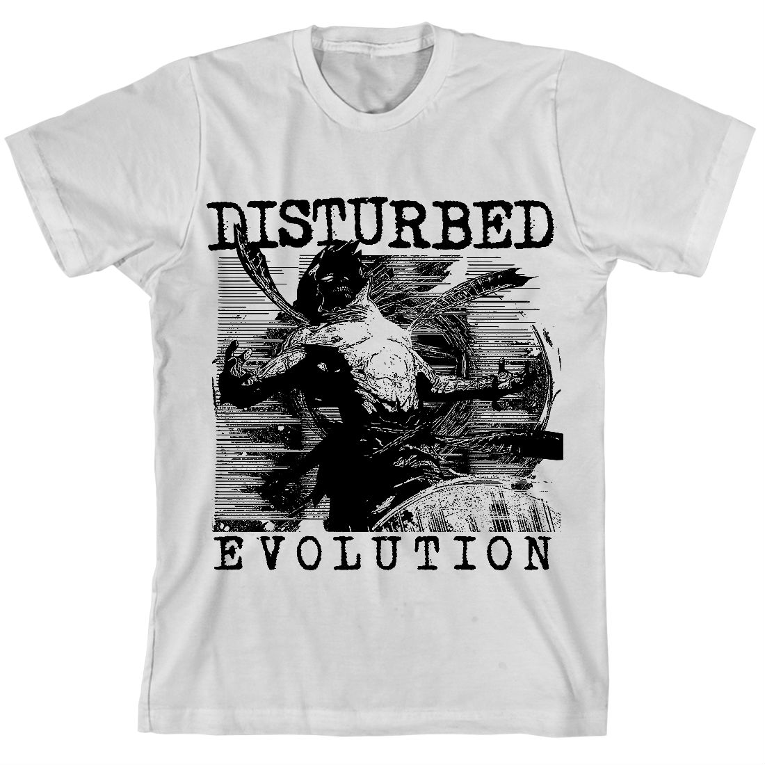 Evolution Sketch White T-shirt