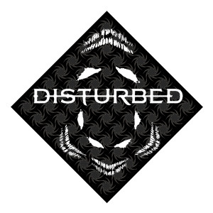 Disturbed Fireball Black Bandana