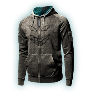 THE GUY MINERAL WASH ZIP HOODIE