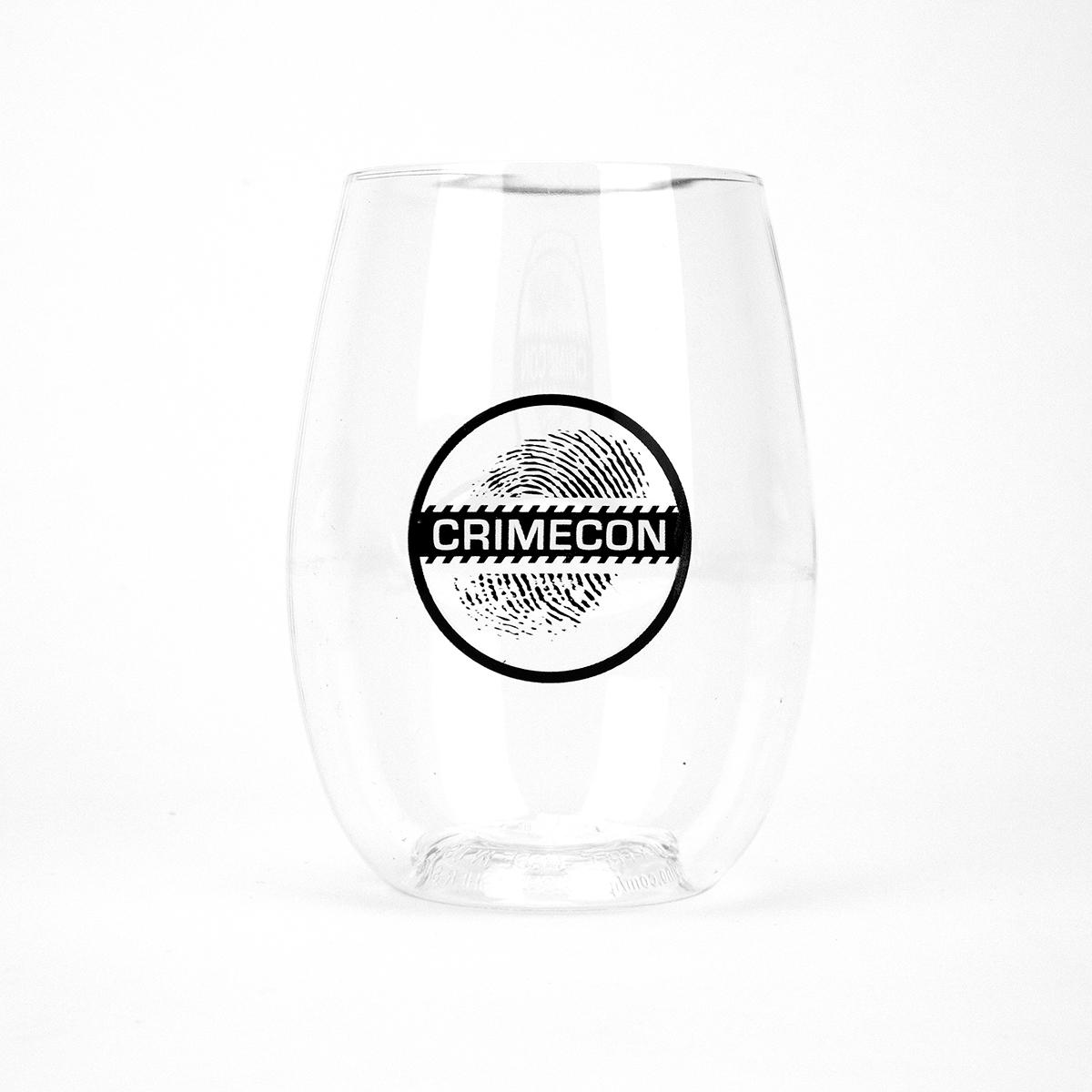 CrimeCon Stemless Wine Glass
