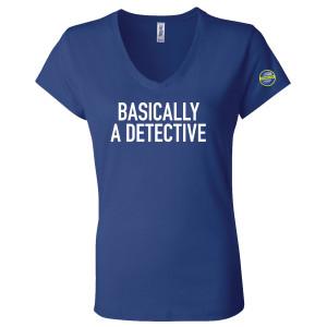 CrimeCon Basically a Detective Women's V-Neck T-Shirt