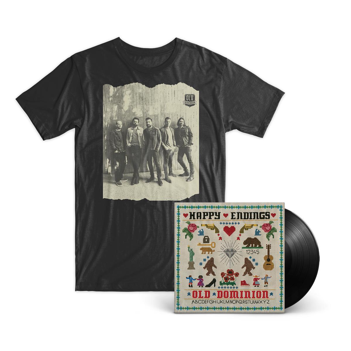 """Old Dominion """"Happy Endings"""" LP + T-Shirt Bundle"""