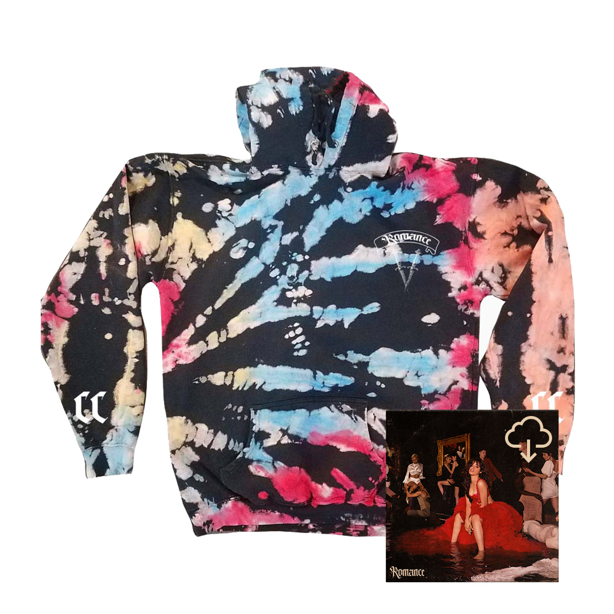 Cupid TieDye Hoodie + Digital Album Download