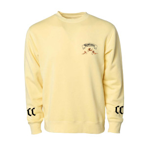 Romance Yellow Crewneck Fleece