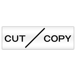 Cut Copy Sticker