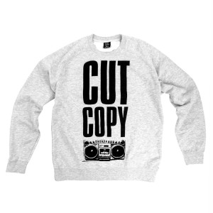 Cut Copy Boom Box Crewneck Sweatshirt - Gray