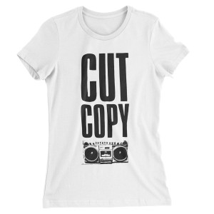 Cut Copy Women's Boom Box T-Shirt - White