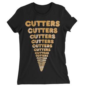 Cut Copy Women's Gold Cutters Black T-Shirt