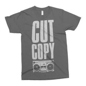 Cut Copy Boom Box T-Shirt - Gray