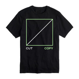 Cut Copy Freeze, Melt Black T-shirt