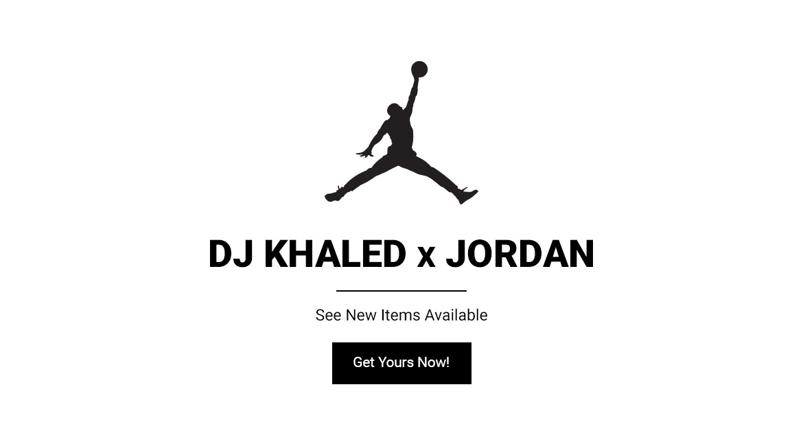 Shop the DJ Khaled x Jordan Collection Now!