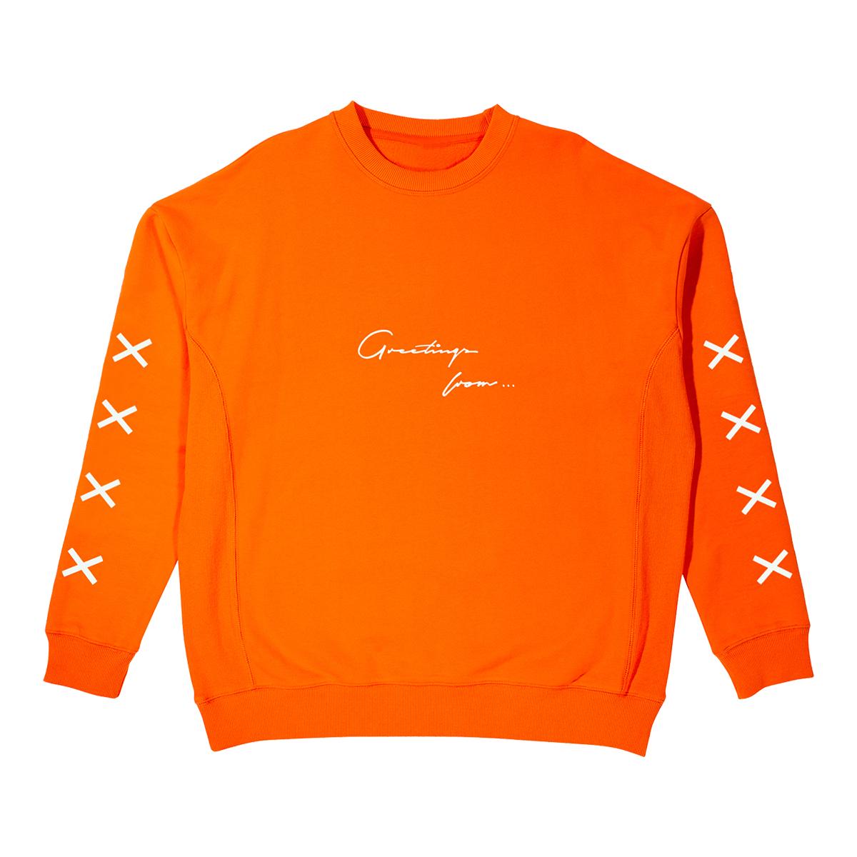 Father of Asahd Orange Crewneck Sweatshirt