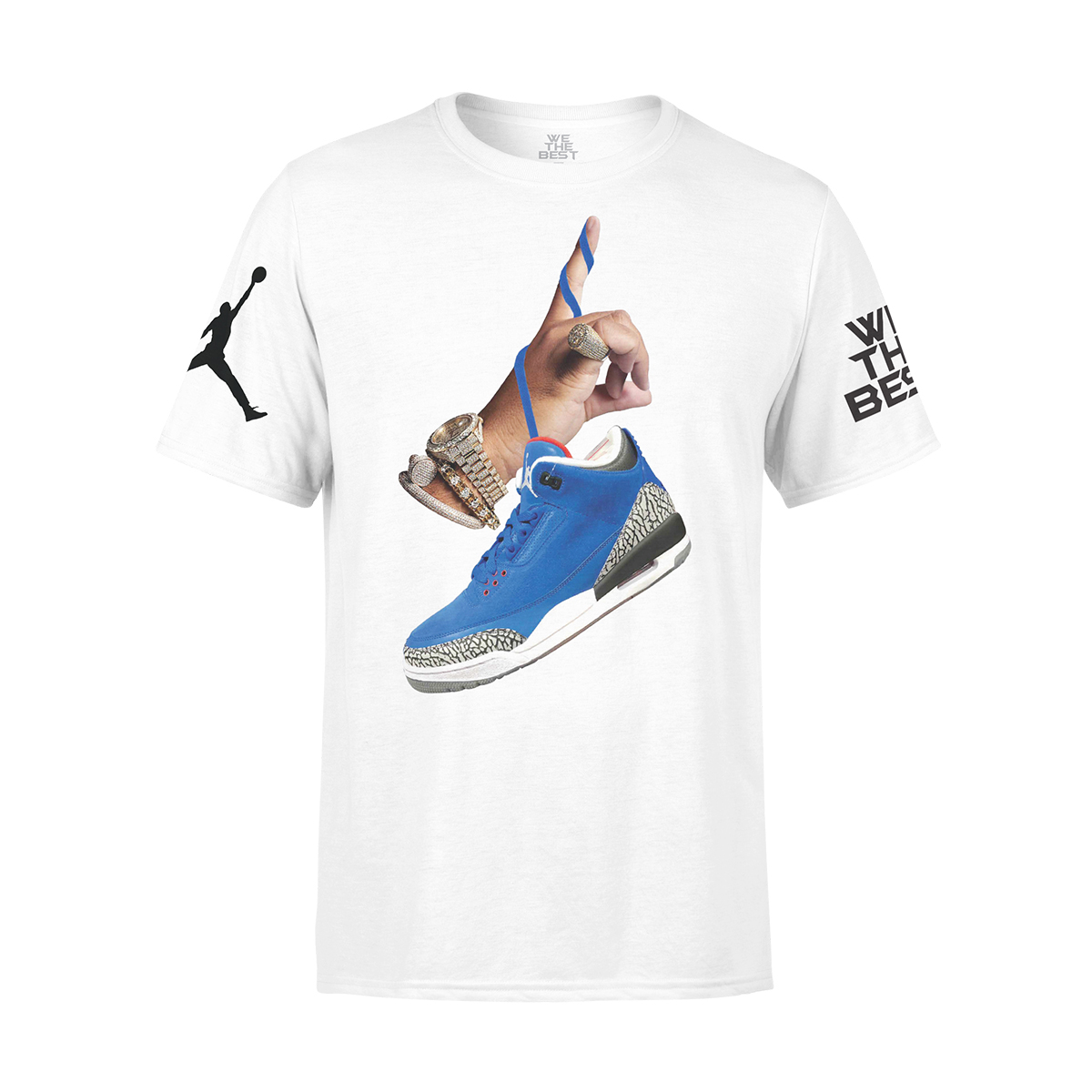 DJ Khaled x Jordan with Suede Sneakers T-shirt - White