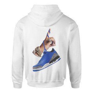 DJ Khaled x Jordan Leather Sneakers Hoodie - White