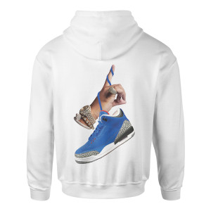 DJ Khaled x Jordan Suede Sneakers Hoodie - White + Father of Asahd Album Download