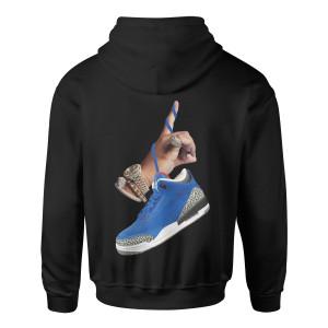 DJ Khaled x Jordan Suede Sneakers Hoodie - Black