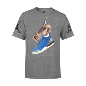 DJ Khaled x Jordan Suede Sneakers T-shirt - Grey + Father of Asahd Album Download