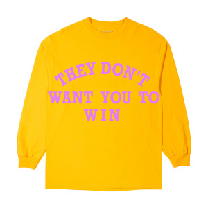 They Don't Want You To Win Yellow Long-Sleeve T-Shirt + Father of Asahd Album Download