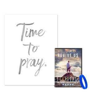 Time To Pray Wall Art + Revive Us DVD Bundle
