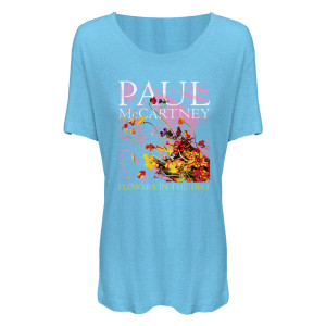 Paul McCartney Flower's Light Blue Junior's T-Shirt