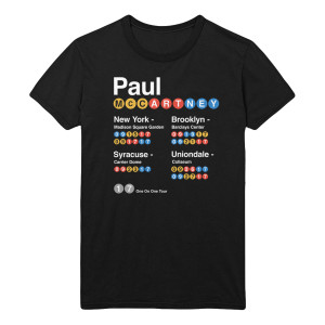 New York Subway Black T-Shirt