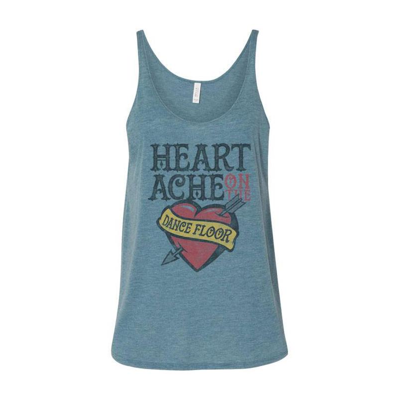 Women's Heartache Tank - Teal