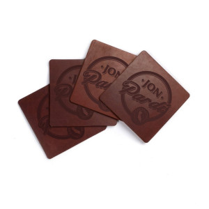 Jon Pardi Draft Leather Coasters