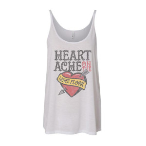 Women's Heartache Tank - White