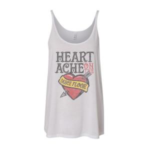 Women's Heartache Tank - White