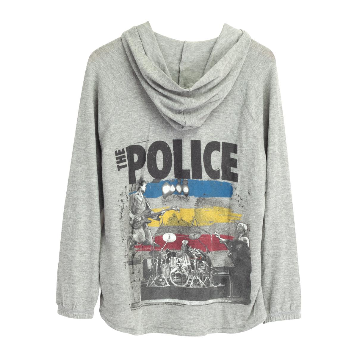 The Police Full Zip Grey Hoodie