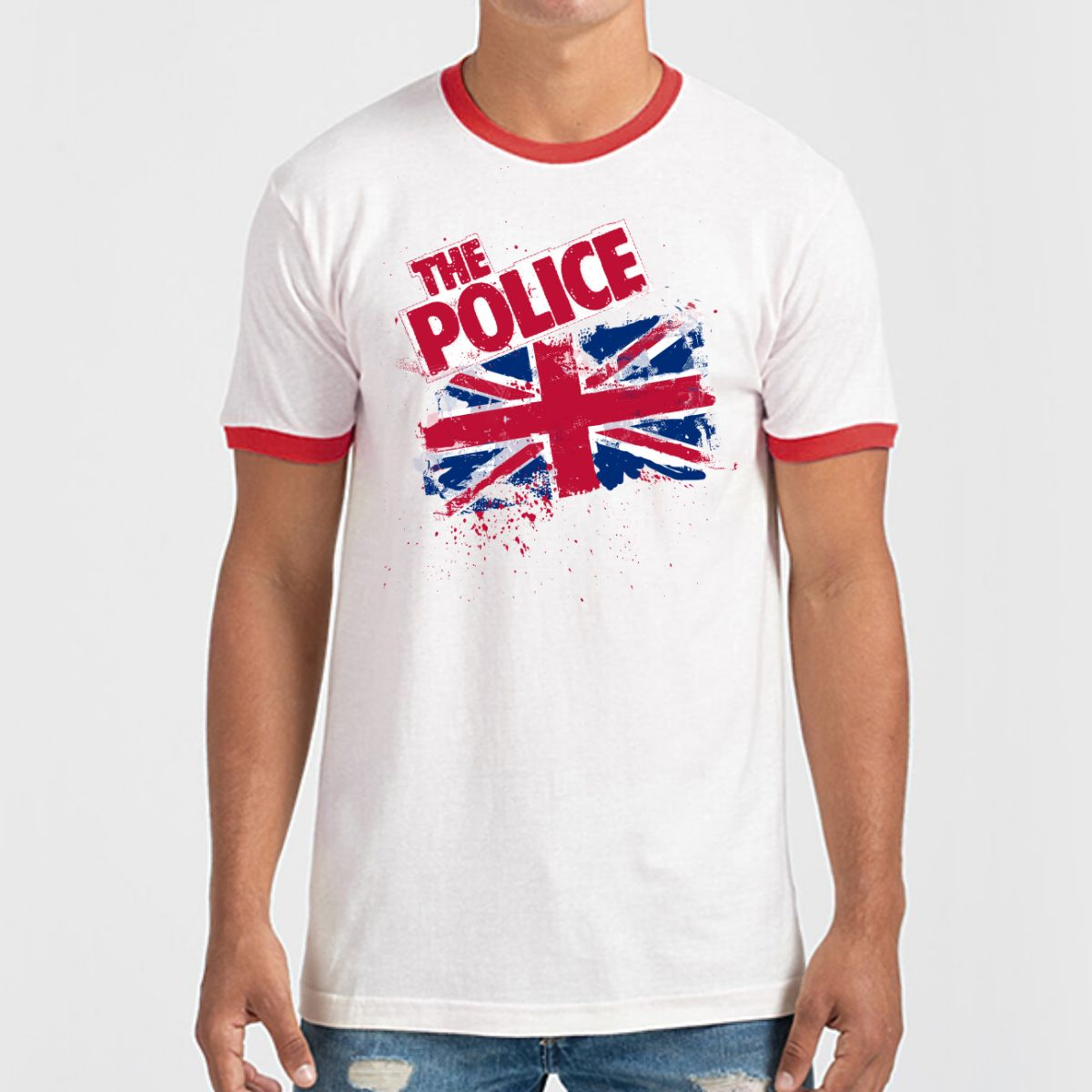 Union Jack Ringer T-Shirt