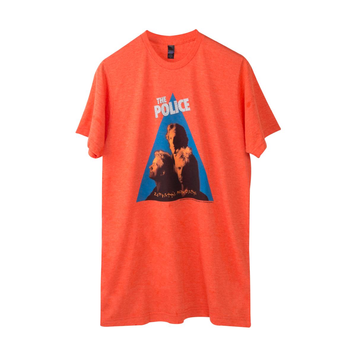 The Police Zentyatta Mondatta Orange Cover T-Shirt