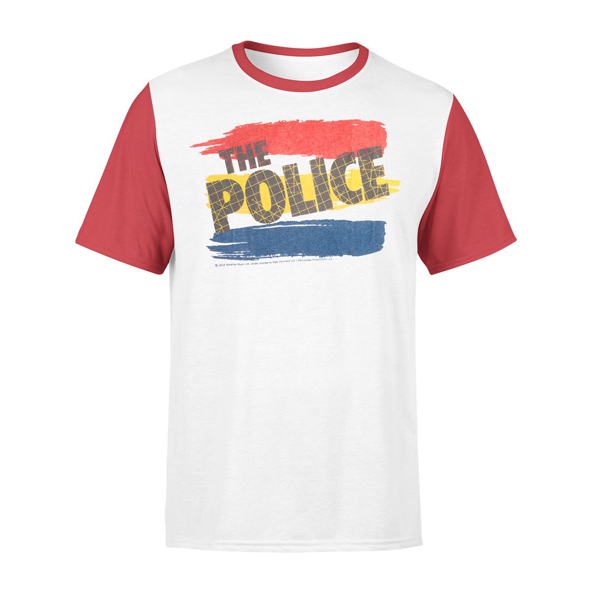 The Police White Raglan T-shirt