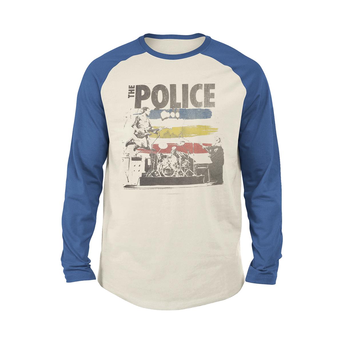The Police Concert Photo Long Sleeve Raglan T-shirt