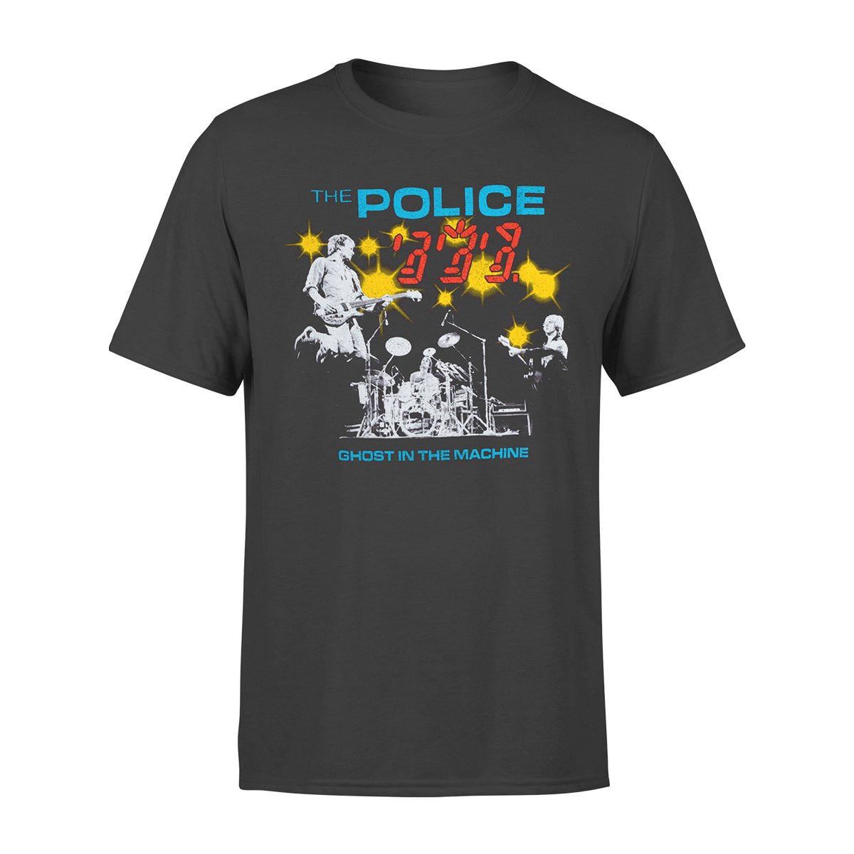The Police 6 Faces Grey T-Shirt