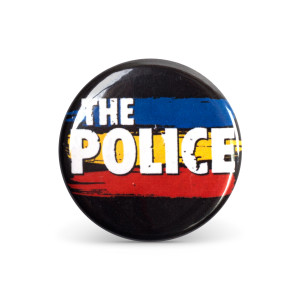 The Police Synchronicity Stripes Button